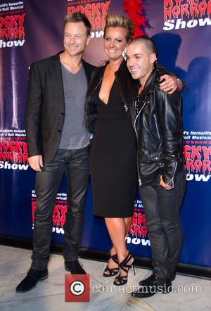 Chyka Keebaugh, Anthony Callea and Partner (Anthony Callea) - Rocky Horror Show opening night - Arrivals - Melbourne, Australia -...