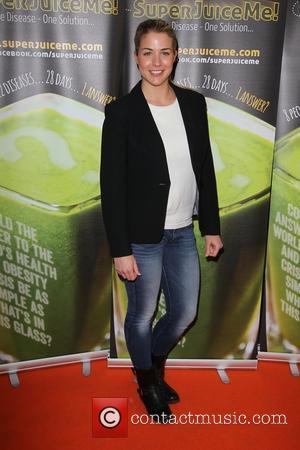 Gemma Atkinson - Celebrities arrive at the Film Premiere of Super Juice Me - London, United Kingdom - Saturday 26th...