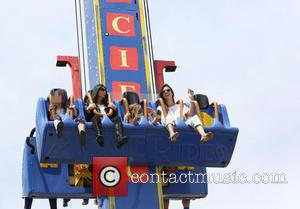 Alessandra Ambrosio and Anja Mazur - Alessandra Ambrosio and family spend the day on the rides at oceanfront amusement park,...
