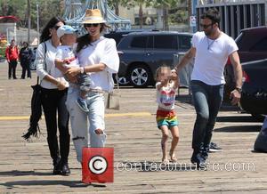 Alessandra Ambrosio, Jamie Mazur, Anja Mazur and Noah Mazur - Alessandra Ambrosio and family spend the day on the rides...