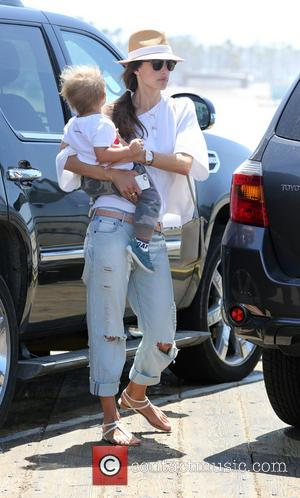 Alessandra Ambrosio and Noah Mazur - Alessandra Ambrosio and family spend the day on the rides at oceanfront amusement park,...