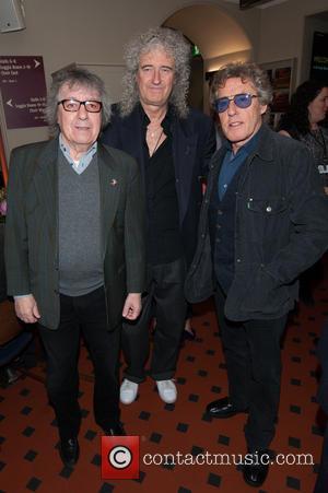 Bill Wyman, Brian May and Roger Daltrey