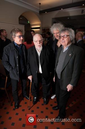 Bill Wyman, Brian May, Roger Daltrey and Sir Peter Blake - Sir Peter Blake mural launch held at the Royal...