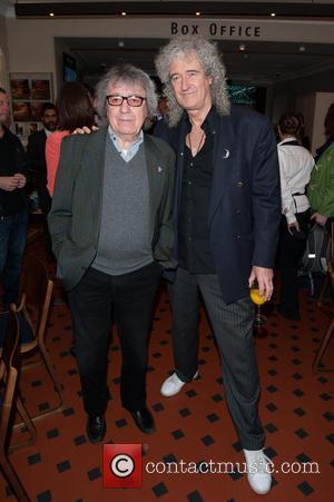 Bill Wyman and Brian May - Sir Peter Blake mural launch held at the Royal Albert Hall. His mural features...