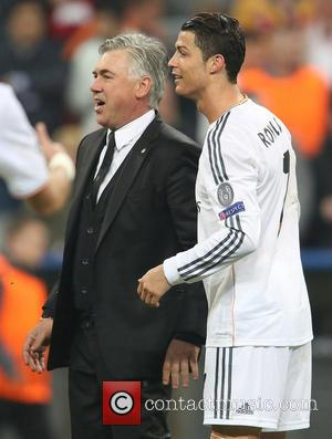 Cristiano Ronaldo and Carlos Ancelotti - Bayern Munich vs Real Madrid - Champions League - Semi Final - Muenchen, Bayern,...