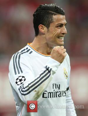 Cristiano Ronaldo and Goal  0:4 - Bayern Munich vs Real Madrid - Champions League - Semi Final - Muenchen,...
