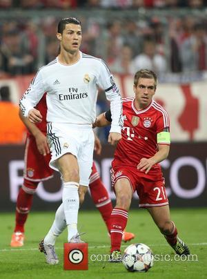 Cristiano Ronaldo and Philipp Lahm - Bayern Munich vs Real Madrid - Champions League - Semi Final - Muenchen, Bayern,...