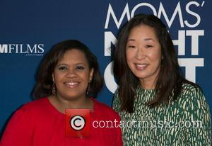 Chandra Wilson and Sandra Oh - Moms Night Out Premiere at TCL Chinese Theater - Red Carpet - Los Angeles,...