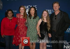 Chandra Wilson, Sarah Drew, Sandra Oh, Guest and Kevin McKidd - Moms Night Out Premiere at TCL Chinese Theater -...