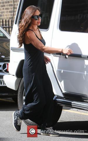 Myleene Klass - Myleene Klass out near her London home with her daughters Ava and Hero - London, United Kingdom...