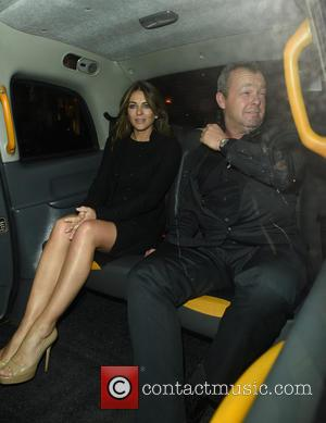 Elizabeth Hurley and David Yarrow - Liz Hurley leaving Chiltern Firehouse restaurant and members club with new boyfriend David Yarrow...