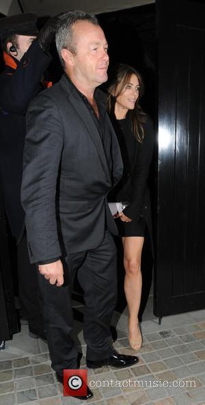 Elizabeth Hurley and David Yarrow - Celebrities leaving Chiltern Firehouse restaurant and members club - London, United Kingdom - Wednesday...