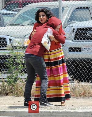 Maya Rudolph - Andy Samberg reunites with Maya Rudolph to film a funny skit for the season finale of Saturday...