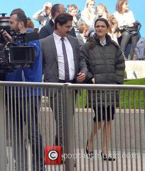 Colin Farrell and Rachel Weisz - Colin Farrell and Rachel Weisz film scenes for their upcoming movie 'The Lobster' in...