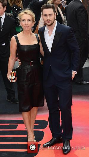 Sam Taylor Wood and Aaron Taylor Johnson - 'Godzilla' European Premiere at the Odeon, Leicester Square, London - London, United...