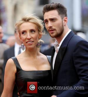 Sam Taylor Wood and Aaron Taylor Johnson - European premiere of 'Godzilla' held at the Odeon Leicester Square - Arrivals...
