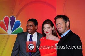 Laz Alonso, Debra Messing and Josh Lucas - 2014 NBC Upfront Presentation at The Jacob K. Javits Convention Center -...