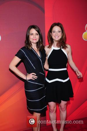 Tina Fey and Elliie Kemper - 2014 NBC Upfront Presentation at The Jacob K. Javits Convention Center - Arrivals -...