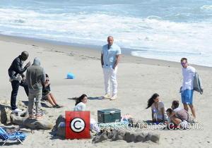 Vin Diesel, Tyrese Gibson, Michelle Rodriguez, Jordana Brewster, Ludacris and Caleb Walker - Vin Diesel filming last scenes for