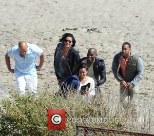 Vin Diesel, Tyrese Gibson, Michelle Rodriguez and Ludacris - Vin Diesel filming last scenes for