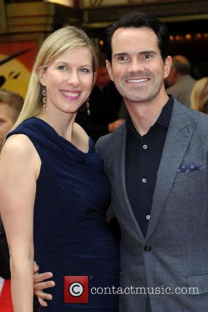 Jimmy Carr and Karoline Copping - Miss Saigon Press Night at the Prince Edward Theatre - Arrivals - London, United...