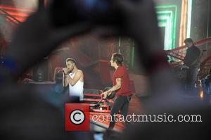 Harry Styles and Liam Payne - One Direction kick off 'Where We Are Tour' in Sunderland - Sunderland, United Kingdom...