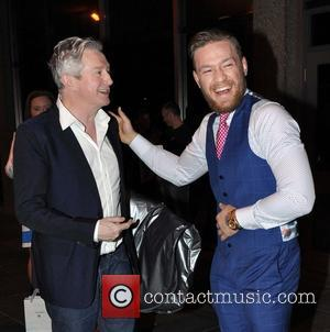 Louis walsh and Conor McGregor - Celebrities leave the RTE studios - Dublin, Ireland - Friday 30th May 2014