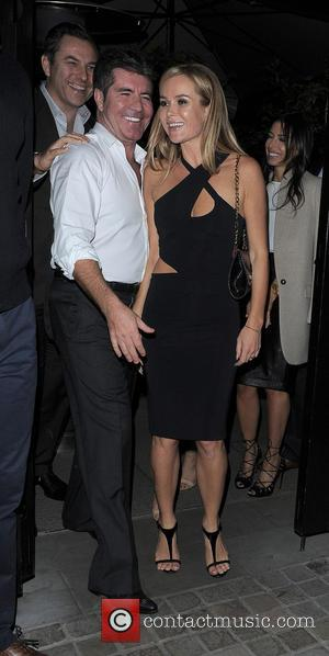 Simon Cowell and Amanda Holden - Celebrities at Chiltern Firehouse - London, United Kingdom - Friday 30th May 2014