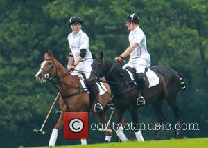 Prince Harry and Prince William - Prince Harry and Prince William play polo at Audi Challenge - Ascot, United Kingdom...
