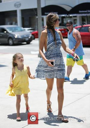 Alessandra Ambrosio and Anja Mazur - Victoria Secret model, Alessandra Ambrosio shopping in Brentwood with family - Los Angeles, California,...