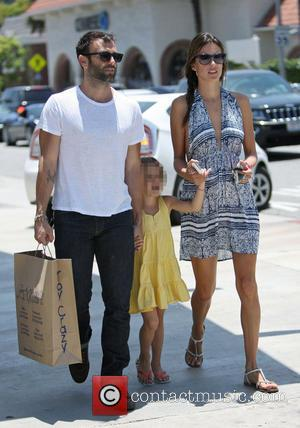 Alessandra Ambrosio, Jamie Mazur and Anja Mazur - Victoria Secret model, Alessandra Ambrosio shopping in Brentwood with family - Los...