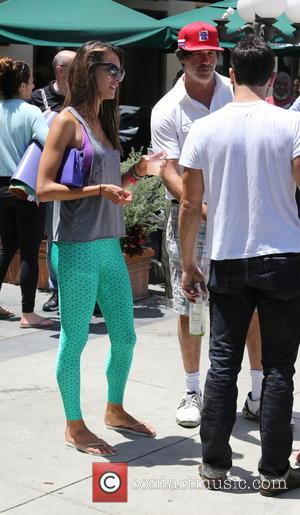 Alessandra Ambrosio - Alessandra Ambrosio watches her daughter Anja sell home made lemonade on a street in Brentwood - Los...
