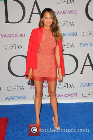 Chrissy Teigen - 2014 CFDA Fashion Awards - Red Carpet Arrivals - Manhattan, New York, United States - Tuesday 3rd...