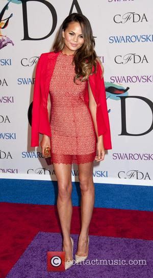 Chrissy Teigen - 2014 CFDA Fashion Awards - Red Carpet Arrivals - New York, New York, United States - Tuesday...