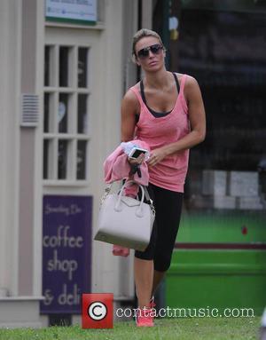 Alex Gerrard - Alex Gerrard returns to her car after leaving the gym - Liverpool, United Kingdom - Thursday 5th...