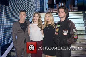 Eliza Tylor Thomas Mcdonell  Emily Bett Rickard  Colton Haynes - Photocall for 'Arrow' and 'The 100' at Villamagna...