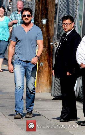 Gerard Butler - Gerard Butler arriving at Jimmy Kimmel Live - Los Angeles, California, United States - Tuesday 10th June...
