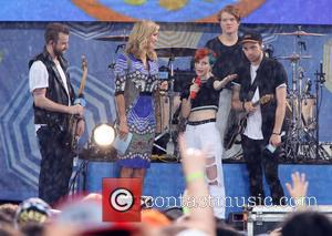 Paramore, Hayley Williams, Jeremy Davis, Taylor York and Lara Spencer - 2014 GMA Summer Concert Series held in Rumsey Playfield,...