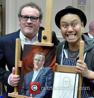 Colm Meaney and Artist Mark Heng