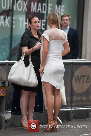 Maria Sharapova - WTA Pre-Wimbledon Party held at Kensington Roof Gardens - Arrivals. - London, United Kingdom - Thursday 19th...