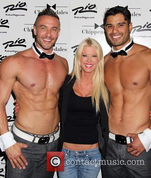 Tara Reid and Chippendales - Tara Reid stops by to see 'Sharknado' co-star Ian Ziering as celebrity guest host of...