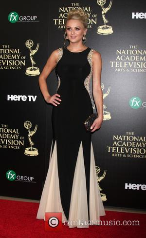 Hunter King - Daytime Emmy Awards 2014 held at The Beverly Hilton Hotel - Arrivals - Beverly Hills, California, United...