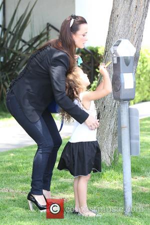 Kyle Richards and Portia Umansky - Kyle Richards filming The Real Housewives of Beverly Hills with her daughter Portia Umansky...