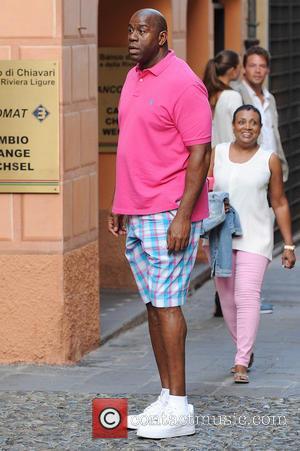 Magic Johnson - Magic Johnson and Samuel L. Jackson relaxing in Portofino - Portofino, Italy - Tuesday 24th June 2014