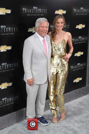 Robert Kraft and Ricki Lander - New York premiere of 'Transformers: Age Of Extinction' at the Ziegfeld Theatre - New...