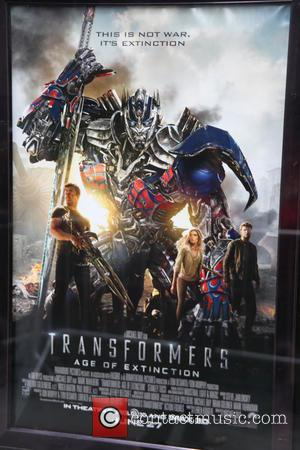 Movie Poster and of Transformers Age of Extinction - New York premiere of 'Transformers: Age Of Extinction' at the Ziegfeld...