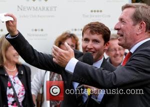 James Blunt and Derrick Thompson - James Blunt appears at Newmarket Racecourse - Newmarket, United Kingdom - Friday 27th June...