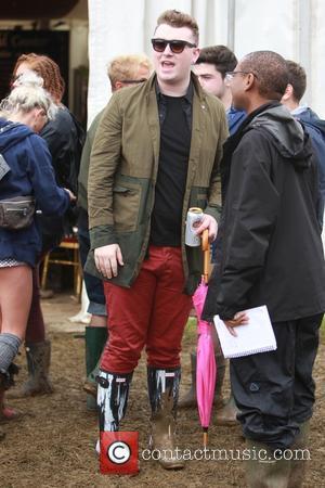 Sam Smith - Glastonbury Festival 2014 - Celebrities - Glastonbury, United Kingdom - Friday 27th June 2014