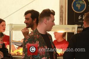 Sam Smith - Glastonbury Festival 2014 - Celebrities and atmosphere. - Glastonbury, United Kingdom - Friday 27th June 2014