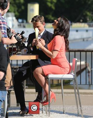 Susanna Reid and Ben Shephard - Susanna Reid and Ben Shephard filming a segment for 'Good Morning Britain' on the...